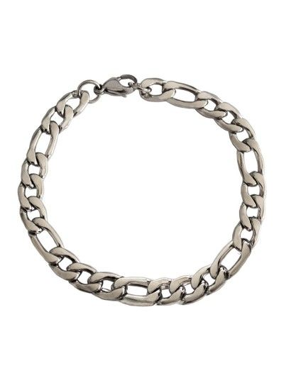 Imported Men's Jewellery Silver Stylish Figaro Chain Design Bracelet For Men Rs. 160/- gift for him,gifts for him india,gift ideas for men birthday,,best gifts for boyfriends,gift ideas for men who have everything,romantic gifts for men, best gifts for husband,mens fashion ,mens style , classy gift,mens gift ideas for birthday gifts for men ideas,www.menjewell.com