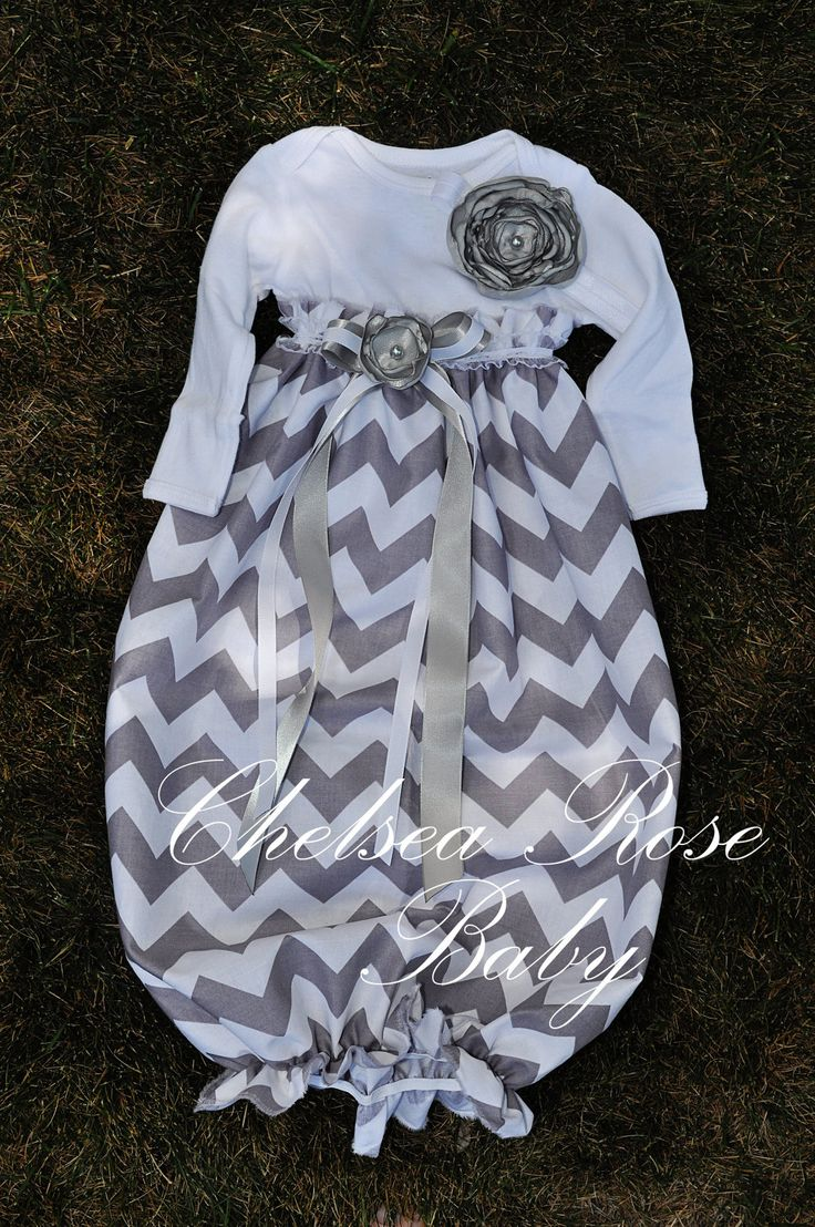 Baby Girl Onesie Dress... take onesie, cut off at empire waist, leaving enough for seam, stitch onesie to gathered fabric, add elastic at bottom and embellish.  LOVE IT!