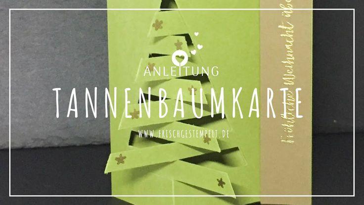 tannenbaum 🎄weihnachtsbaum 🎄karte 🎄stampin' up  youtube