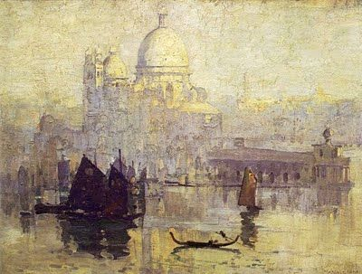 Sunrise on Santa Maria della Salute 1908 by Arthur Streeton (1867-1943)