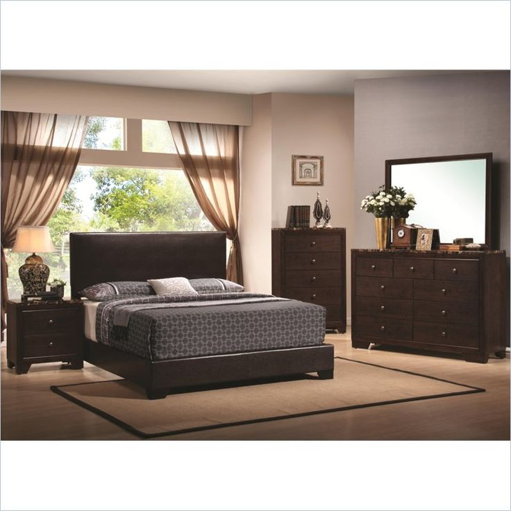 Coaster Conner 3 Piece Bedroom Set In Walnut Finish 300261q Pkg