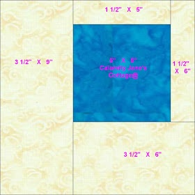 "Calamity Jane's Cottage: Measurements for ""One Charm Pack Quilt"""