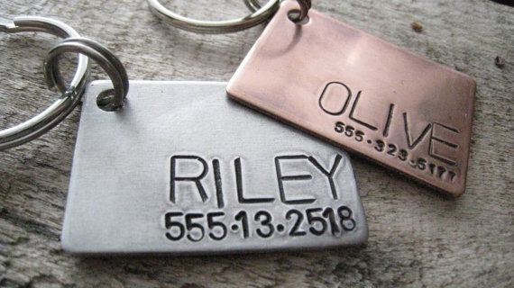 Custom Pet ID Tag Personalized Pet/Dog Tag by TheWoodenWillow