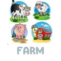 This is a place that is great for an educational farm scavenger hunt. The clues point to common animals and equipment on a farm. However, it doesn't need to stop there, as you can extend the challenge.