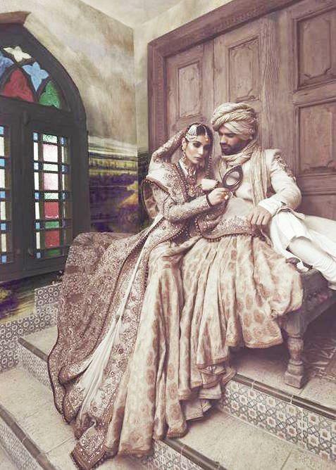 Bride and Groom  Fahad Hussayn, Gulzar Manzil Court Editions, High Fashion Pakistan