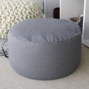 Füllkissen grau Ø 45cm für Yogakissen, Meditationskissen, Bodenkissen