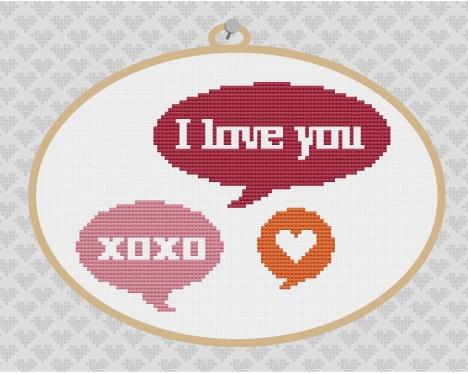 kattuna: FREE Valentines Cross Stitch Pattern