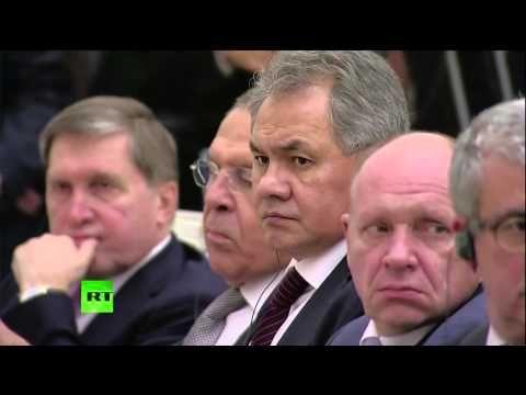 PUTIN e HOLLANDE - Conferenza stampa congiunta a Mosca - YouTube