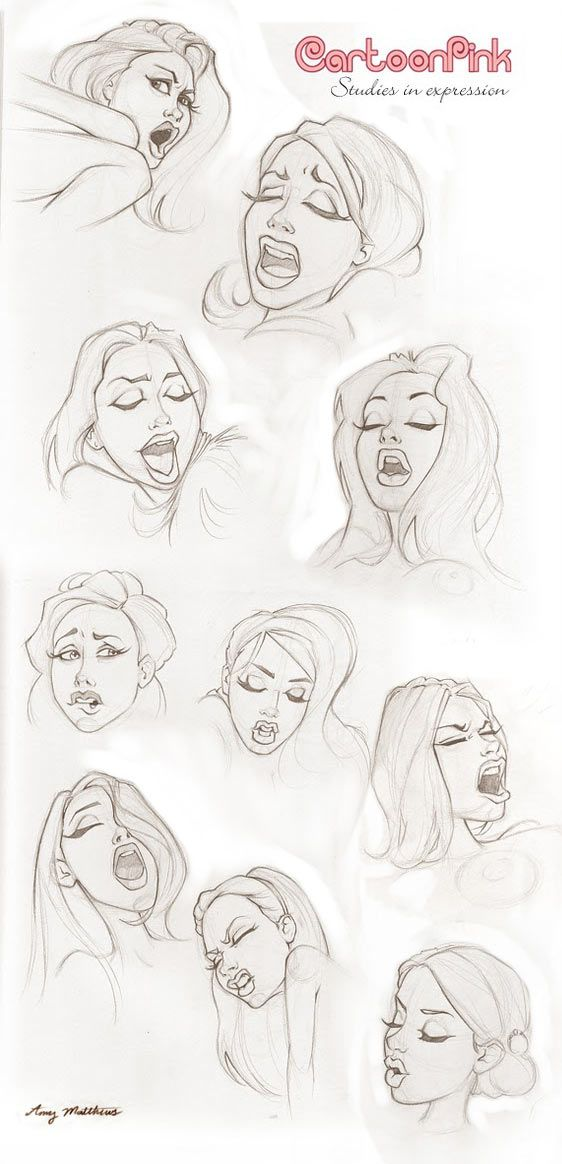 Cartoon Pink is the name Amy Matthews goes under when illustrating her naughty, erotic drawings. We found a series of O faces that Amy did which are a...