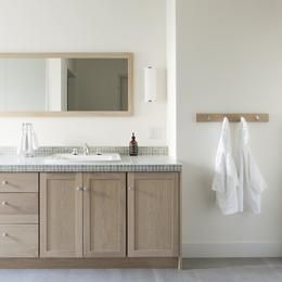 M邸の部屋 デザイン性と使い勝手を考えられた洗面台