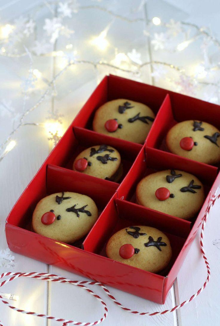 Rudolph reindeer whoopie pies