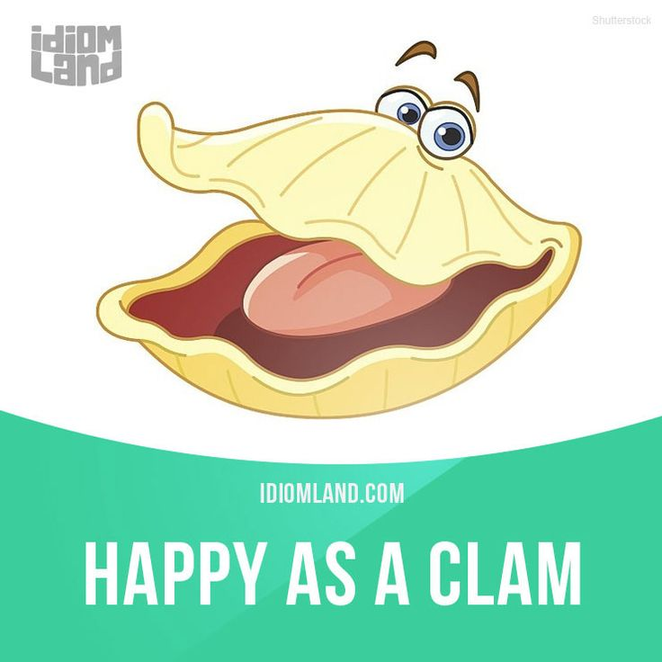 """Happy as a clam"" means ""very happy"". Example: Bob was happy as a clam when he won the lottery."