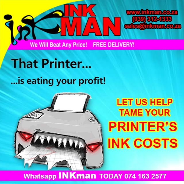 #INKman will beat any written #quote product for product-Call us (039) 312-1333 | (074)163 2577 | sales@inkman.co.za