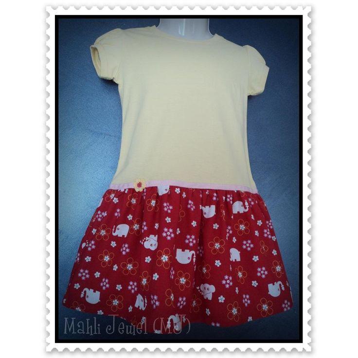 $30.00 GTSD2034 Sz 3 T shirt dress Elephant by MahliJewelMJ on Handmade Australia