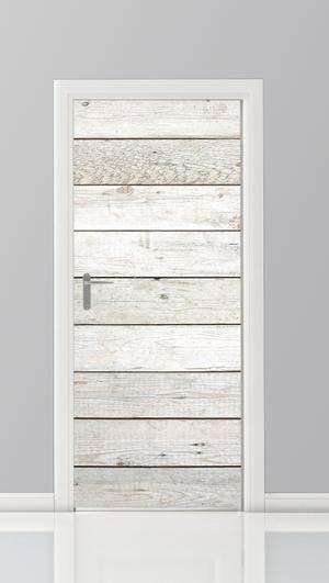 Bekijk de foto van Posterwand met als titel Steigerhouten planken met white wash geprint op een sticker voor de deur. Dit zijn deurstickers voor alle vlakke deuren. en andere inspirerende plaatjes op Welke.nl.