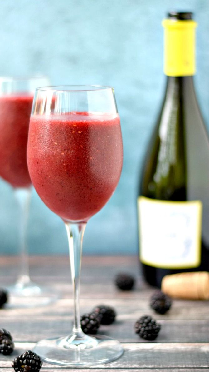 Wine Smoothie ~ Impress your friends on a hot, summer day with this delicious Wine Smoothie. So simple to make, you just need a bag of frozen berries and a sweet, white wine.