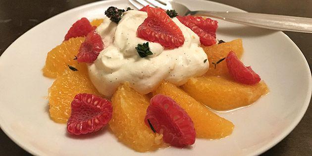 Skøn dessert, der både er nem at lave og smager super godt.