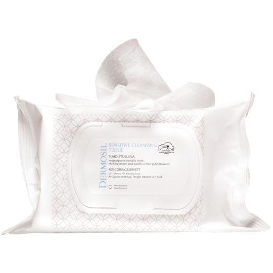 Sensitive Puhdistusliina (25 kpl) (3664) Kostea liina herkän ihon puhdistukseen. Sopii muun muassa meikinpoistoon sekä käsien ja ihon puhdistukseen koko perheelle. Dermoshop
