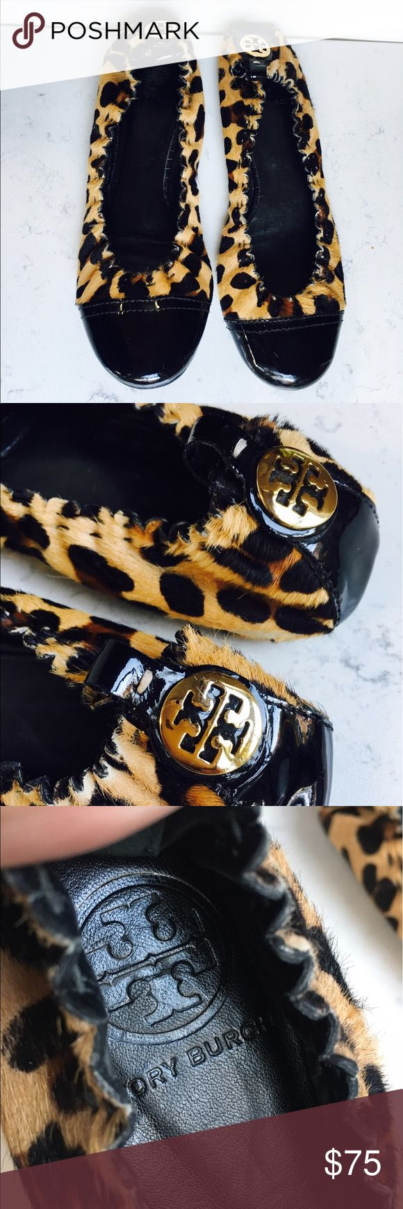 ❤️Tory Burch Abbey Leopard Hair Calf Ballet Flat❤️ Tory Burch Abbey Leopard Hair Calf Ballet Flat in good used condition check pics 0156725467 Tory Burch Shoes Flats & Loafers