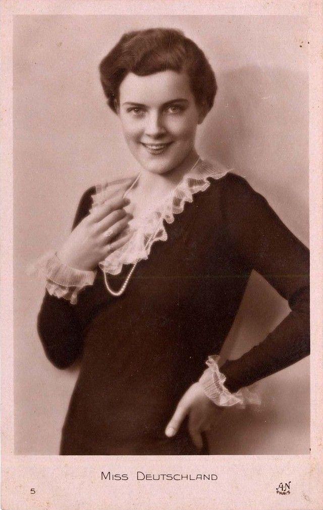 Ретрокрасавицы с конкурса «Мисс Европа — 1930» 8. Мисс Германия Дорит Нитиковски (29 апреля 1911 в Берлин-Friedenau — до 2000).