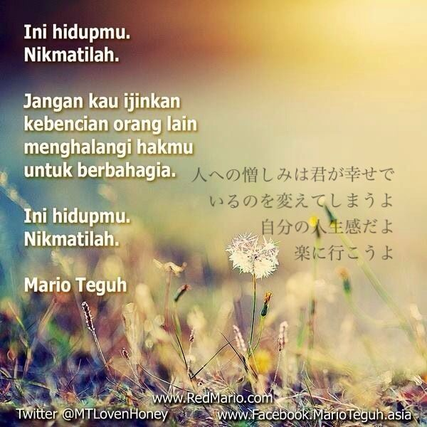 from Mario Teguh