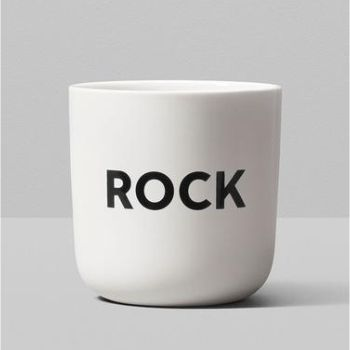 Playtype Rock Beat Typographic Mug: This minimal typographic mug features 'Rock' typed in Playtype's own font, The Wave Bold. Playtype™ a foundry and online font shop was created by brand & design agency e-Types, as a showcase of more than 20 years of type design – from commissioned works to fonts created out of passion.