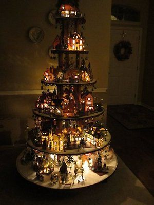 HOW TO BUILD A Village House Display Stand Dept 56 Lemax Christmas Halloween DIY