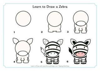 Learn to Draw a Zebra
