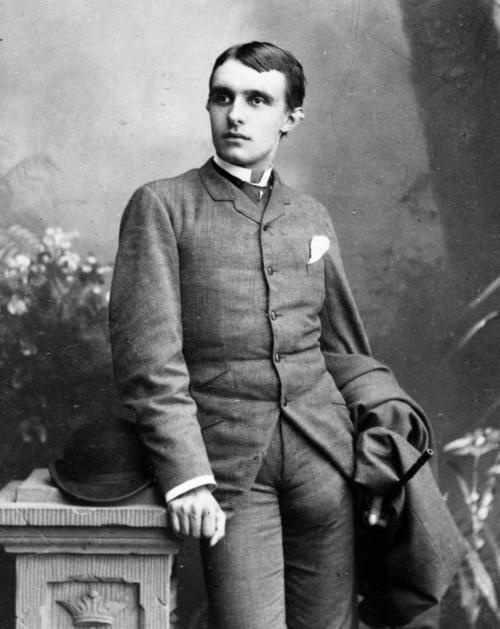 Herman Bang (1857 - 1912)  Danish impressionistic author and journalist. Known for his alternative writing style, he was sometimes being very erotic, and also he was open about his homosexuality. I thought his name was appropriate - plus, one can't help but stare at what appears to be a small rabbit in his pocket.