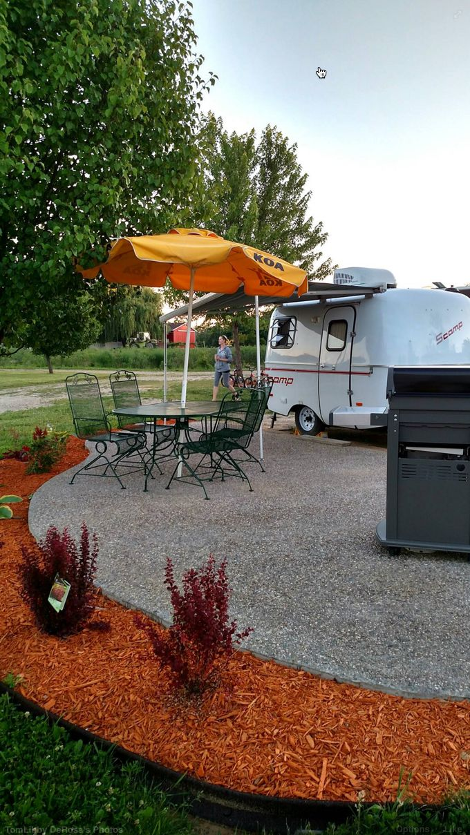 RV Patio site at the Covert/South Haven KOA Holiday