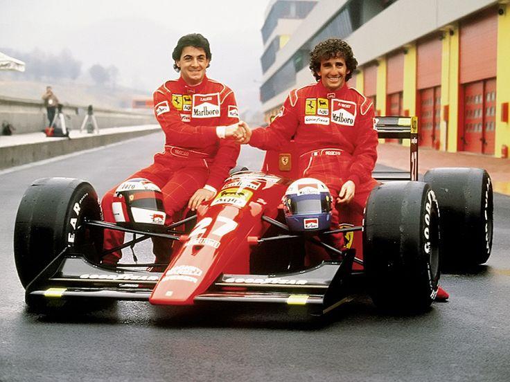 Alain Prost and Jean Alesi, Ferrari 642 1991