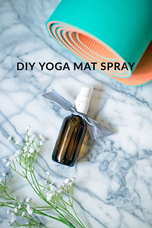 DIY Yoga Mat Spray - freshen up your yoga mat with this simple yoga mat spray!