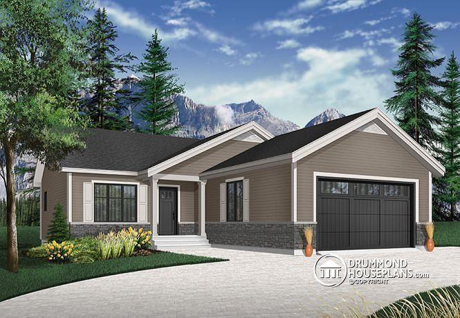 Détail du plan de Maison unifamiliale W3902 Maison pour familles
