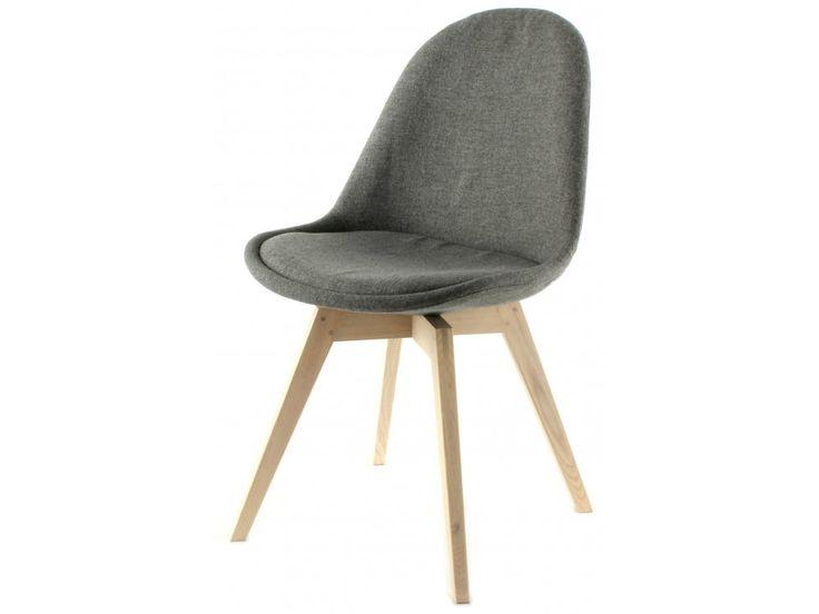 Krzesło Donna Bess szare nogi bielone — Krzesła Tenzo — sfmeble.pl  #scandinavian  #style  #interior  #homedesign #furniture  #chair