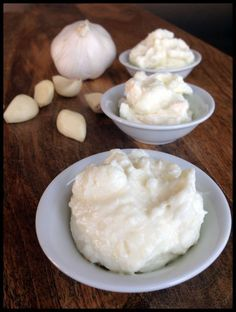 Garlic paste. There is also a tzatziki recipe (substitute with vegan yogurt)