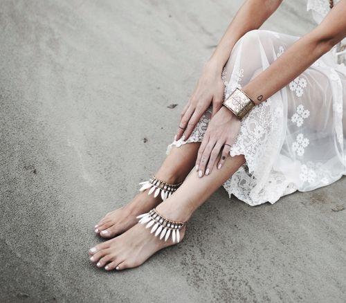 Goddess Barefoot Sandals,Rhombus Cuff, ONE teaspoon Dress