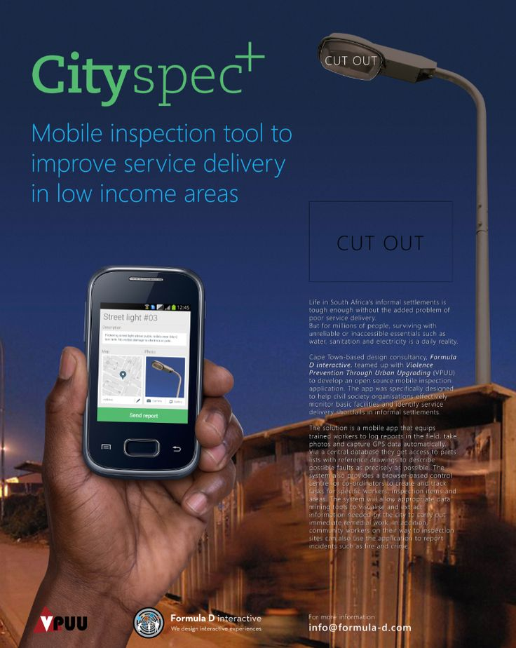 This open source mobile inspection tool helps civil society organisations and community workers to monitor and administer basic service delivery in informal settlements. This mobile app that was entered into the 2014 Better Living Challenge, allows community workers to log reports in the field, take photos and capture GPS data automatically. #BetterLivingChallenge