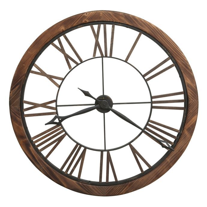 Howard Miller Thatcher Wall Clock In Wood Large Wall Clock Howard Miller Wall Clock Wall Clock
