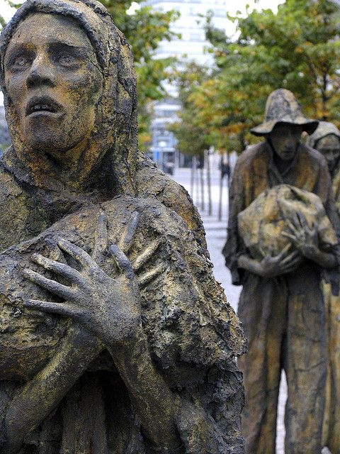 Dublin, Ireland - Potato famine statues. When you see these in person you can really feel their suffering.
