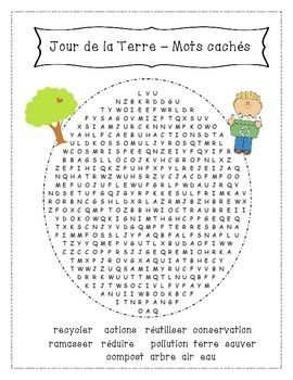 French Earth day word search!
