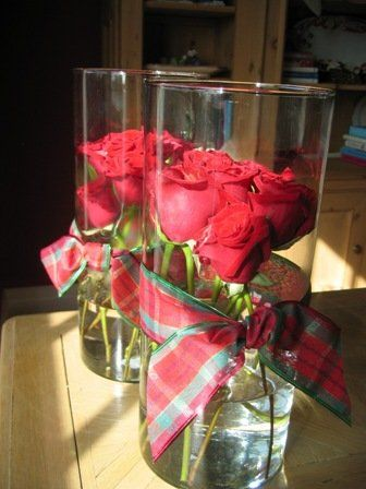 Buy Some Red Roses And Stack Them Closely Inside A Glass