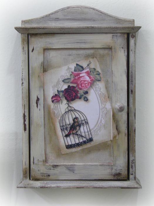 Χειροποίητη κλειδοθήκη με φωλιά πουλιού και σκιές!