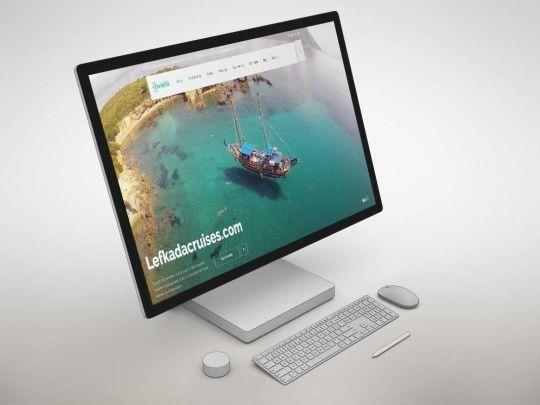 Κατασκευή ιστοσελίδας - Lefkadacruises.com | Onesmart Promotion