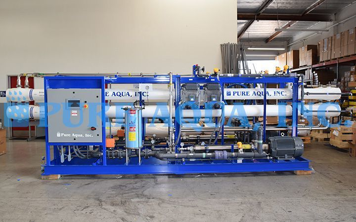 Seawater Reverse Osmosis System 2x 48 000 Gpd Belize Reverse Osmosis System Reverse Osmosis Water Water Treatment
