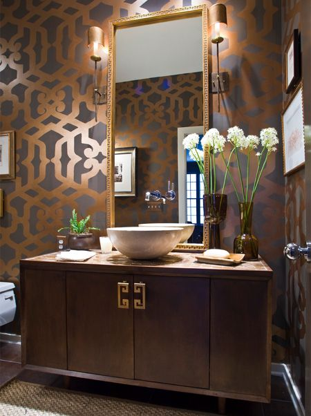 17 best images about bathroom design ideas on pinterest for Gorgeous powder rooms