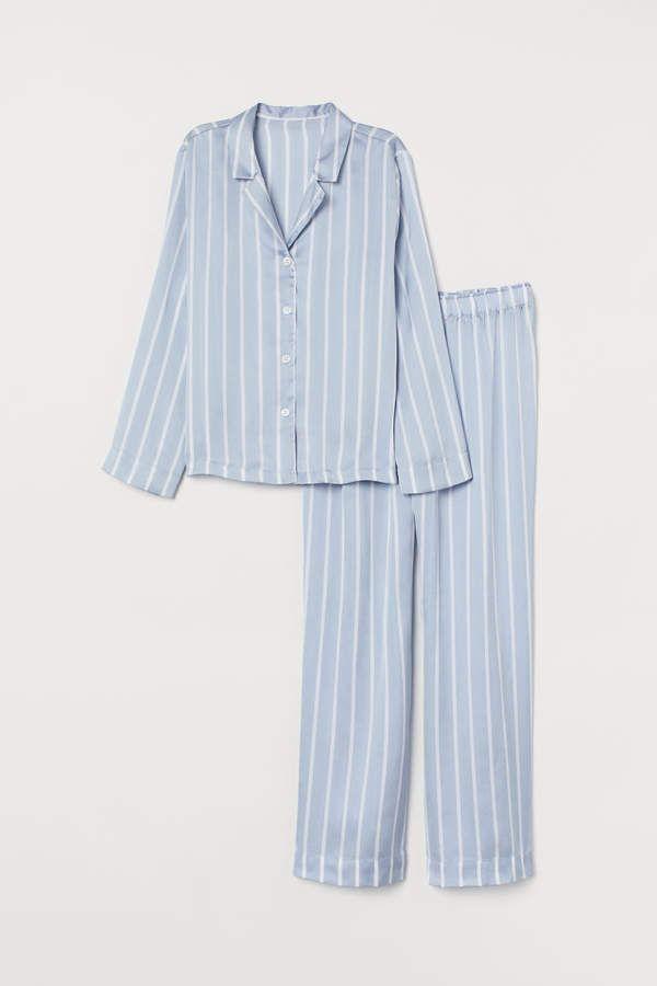 svart siden pyjamas