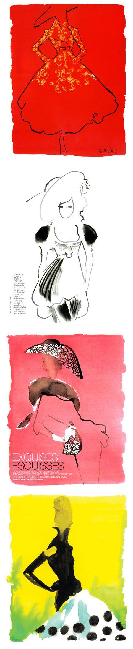 fashion illustrator Eduard Erlikh