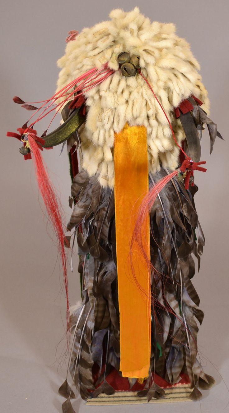 Split Horn And Ermine Skin Headdress Native American