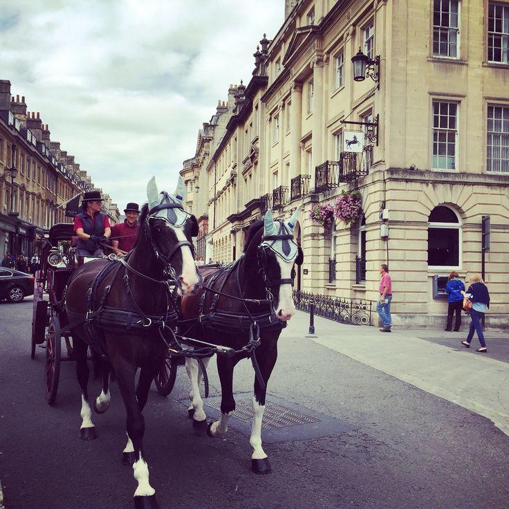 A carriage ride like as in the 19th century #Bath @visitbath #fermataUK #travel #somerset #presstrip