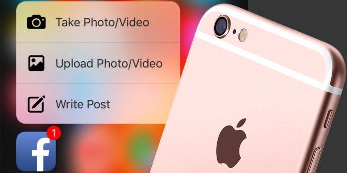 La aplicación de Facebook ya es compatible con el 3D Touch del iPhone 6s y iPhone 6s Plus que te permite presionar mantenido sobre el icono de la app de Facebook que te muestra una ventana emergente con opciones adicionales, ¿qué lo nuevo que hay en la actualización de esta app? http://iphonedigital.com/facebook-aplicacion-3d-touch-iphone-6s/ #iPhoneapps